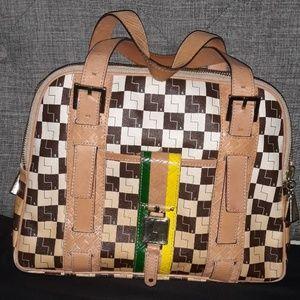 L.A.M.B. ombre checkered oxford
